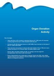 Section 3 - Organ donation activity