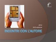 Il programma della XVII edizione - Fondazionecariforli.it