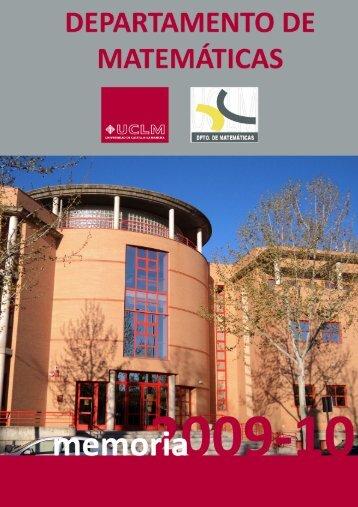 Docencia - Departamento de Matemáticas - Universidad de Castilla ...