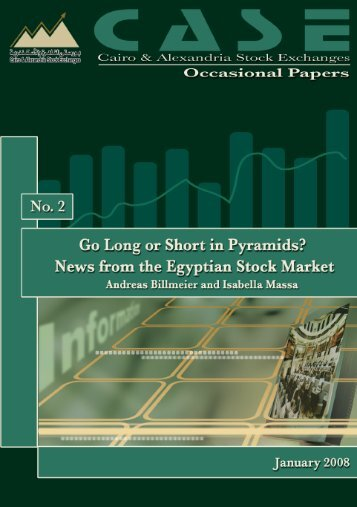Go Long or Short in Pyramids? News from the Egyptian Stock Market