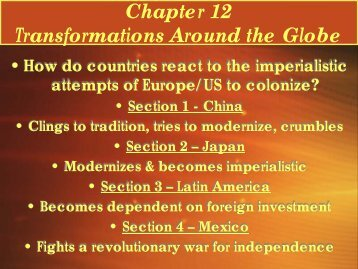 Chapter 12 Transformations Around the Globe - Lake Local Schools