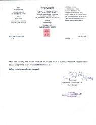 REVISED Paper BSC-II [Life Sciences] - Visva-Bharati