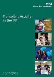 UK Activity Report 2007-2008 - Organ Donation