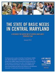 The State of Basic Needs - United Way of Central Maryland