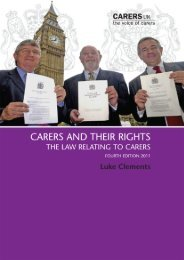Carers and their Rights - National Family Carer Network