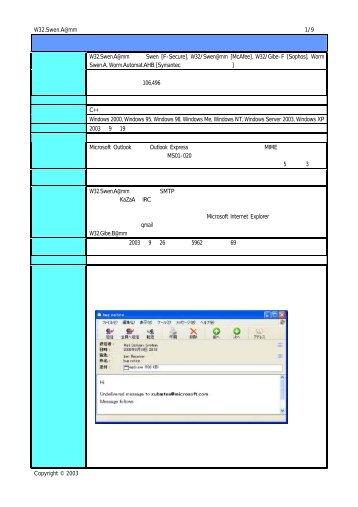 W32.Swen.A@mm [PDF: 約299KB]
