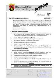 Die Leistungsbeschreibung VOB/A § 9 - Oeffentliche Auftraege