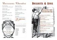 Desserts & Avec Boissons Chaudes