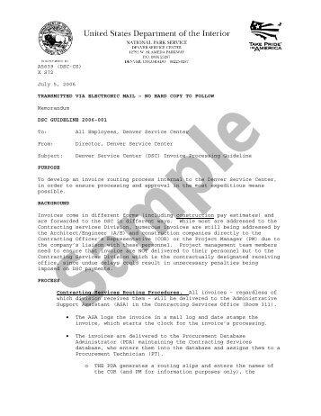 Blanket PO Invoice Processing Procedure