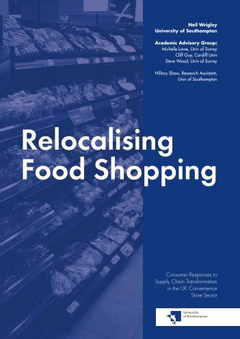 Relocalising Food Shopping - The National Retail Planning Forum