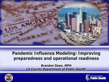 Brandon Dean, MPH - The 2012 Integrated Medical, Public Health ...