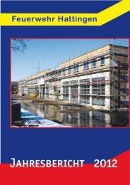 Jahresbericht Hattingen 2012 - Feuerwehr Hattingen