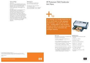 HP Photosmart 7660 Fotodrucker Intro News