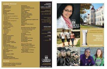 Application procedures - Carroll University