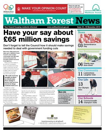 Have your say about £65 million savings - Waltham Forest Council