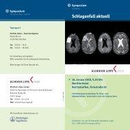 Einladung Neurologie Schlaganfall aktuell_03.indd - Klinikum Lippe