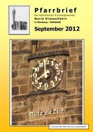 September 2012 - Katholische Pfarrgemeinde Mariä Himmelfahrt