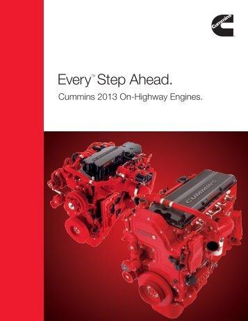 EveryTM Step Ahead. - Cummins Engines