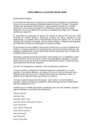 carta oberta - VilaWeb