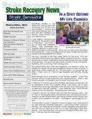 March/April 2011 - Stroke Survivors Association