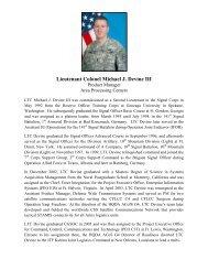 Lieutenant Colonel Michael J. Devine III - AFCEA Belvoir