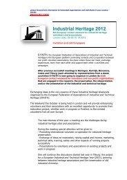 E-FAITH Industrial H.. - European Association of Historic Towns ...
