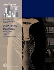 2012 Exhibitor Prospectus - American Association of Oral and ...