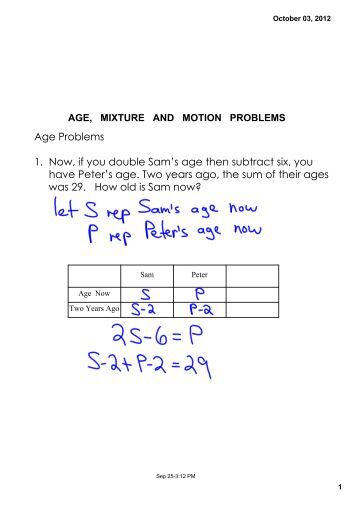 Printables Mixture Problems Worksheet mixture problem worksheet 1 a solution containing 30 chicken age and motion problems worksheet