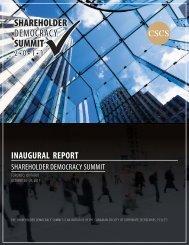 Shareholder Democracy Summit - Davies Ward Phillips & Vineberg ...