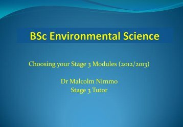 Choosing Stage 3 modules