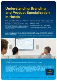 Understanding Branding and Product Specialization in Hotels