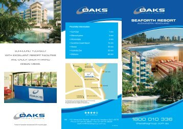 SEAFORTH RESORT - Oaks Hotels & Resorts