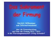 Informationsabend zur Firmung 2013 - Pfarreiengemeinschaft Utting ...