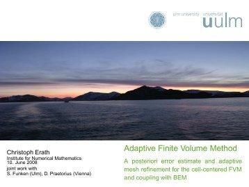Adaptive Finite Volume Method - A posteriori error estimate ... - LATP
