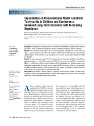 Cryoablation of Atrioventricular Nodal Reentrant Tachycardia in ...