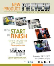 2011 New Product Preview - Fabtech