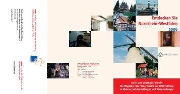 Freier und ermäßigter Eintritt für Mitglieder des ... - NRW-Stiftung