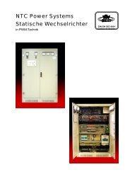 NTC Power Systems Statische Wechselrichter