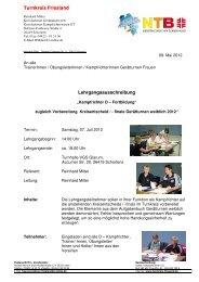 Lehrgang Kari Einweisung Kreismeisterschaften 2012 - NTB