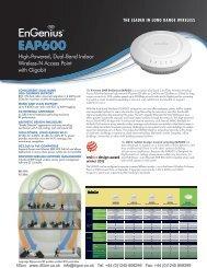 EnGenius EAP600 Datasheet (PDF) - 4Gon
