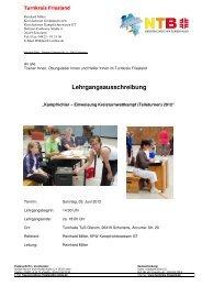 Lehrgangsausschreibung - NTB