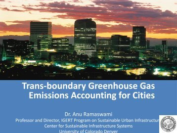 Trans-boundary Greenhouse Gas Emissions Accounting for Cities