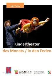 Kindertheater des Monats / in den Ferien - NRW Kultursekretariat