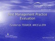 Best Management Practice Evaluation