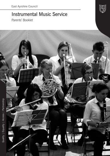 Music Service Leaflet - East Ayrshire Council