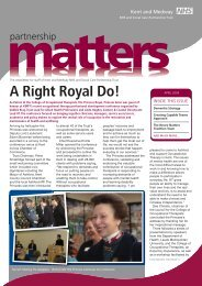 Partnership Matters - April 2009 - Kent and Medway NHS and Social ...