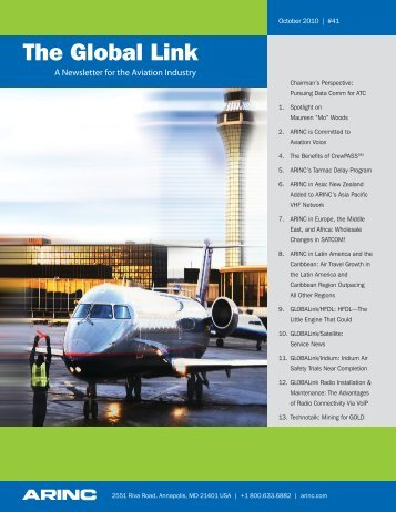 A newsletter for the aviation industry - Arinc