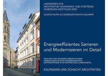 Energieeffizientes Sanieren und Modernisieren im Detail