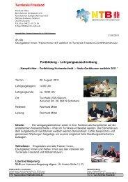 Lehrgang Kari Einweisung Kreismeisterschaften 2011 - NTB