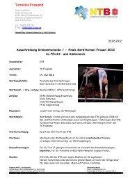Ausschreibung Einzel 2012 - NTB